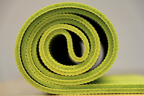 Lonely yoga mat