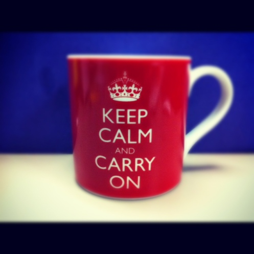 Keep Calm & Carry On Coffee Mug
