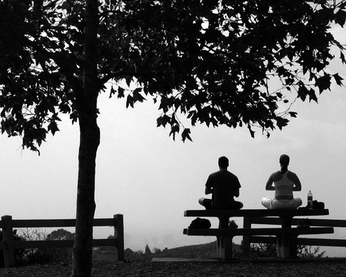 Meditating Couple